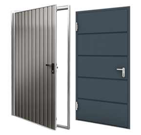 drzwi we wzorze bramy garażowej rozwierne